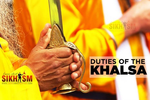 Duties of the Khalsa